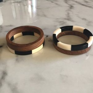 H&M Wood Bangle Set